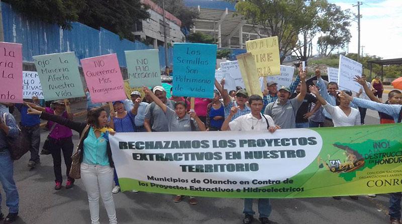 Hondureños siguen su lucha por la defensa del medioambiente