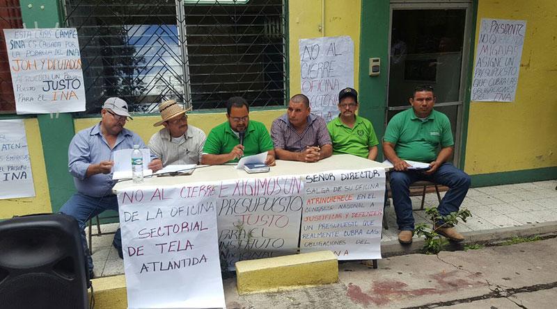 Campesinos denuncian que cierre parcial del INA es para desestabilizarlos