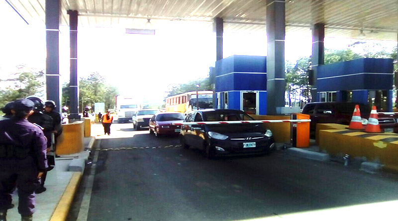 Honduras: Nuevo trancazo en peaje de carretera CA-5