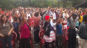 Este fin de semana en el municipio de El Rosario se unió el actual alcalde y la aspirante del partido Liberal Olga Torres quien encabezara la panilla de Libre