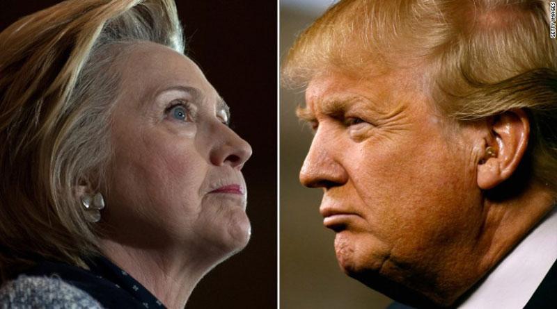 Donal Trump aventaja por un  punto a Hillary en nueva escuesta