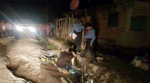 La escena del crimen fue resguarda por elementos de la Policía Nacional.