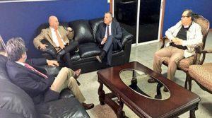 La reunión se llevó a cabo en las oficinas del Fiscal General de la República, Óscar Chinchilla.