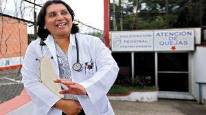 Suyapa Figueroa, presidenta del Colegio Medico de Honduras