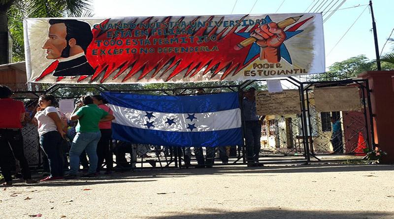 Movimiento Estudiantil Universitario (MEU) apoya toma de la UNA en Catacamas