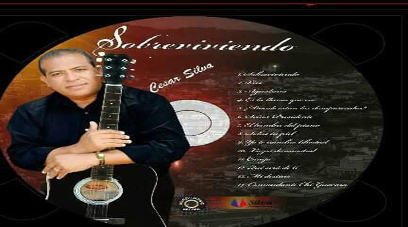 Periodista Cesar Silva lanza su primer CD