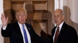 Trump junto a Kelly en una reunión celebrada unos dias atrás