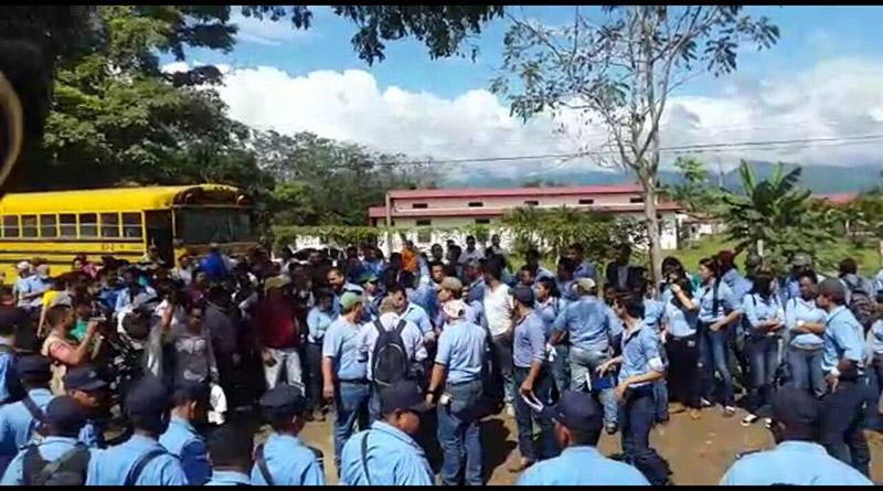 Estudiantes de la UNAG rechazan intervención de Marlon Escoto