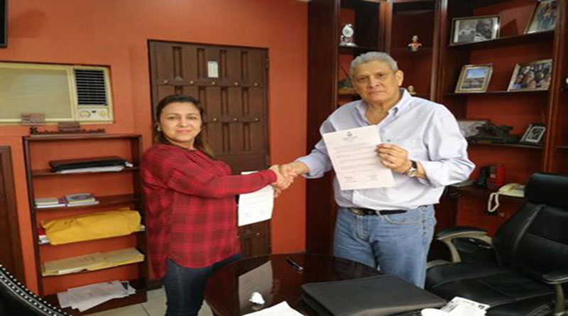 Esdras Amado López y Marlene Alvarenga crean alianza
