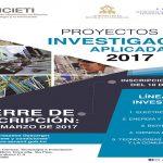 """IHCIETI invita a la presentación de Proyectos de Investigación Aplicada """"PIA 2017"""""""