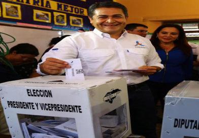 JOH rompe la historia al convertirse en el primer presidente de Honduras en votar por sí mismo