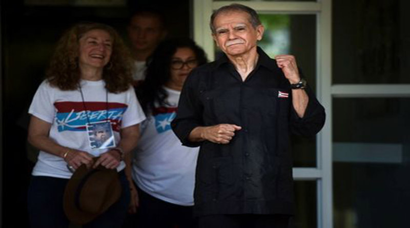 Liberan al líder independentista puertorriqueño Oscar López Rivera