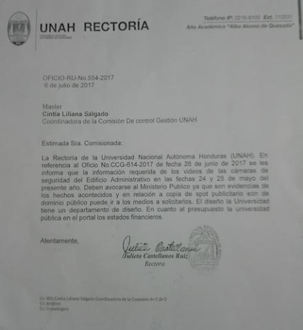 Rectora UNAH