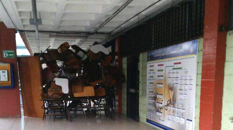 Amanece tomada la UNAH en Tegucigalpa