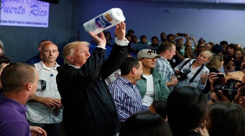 Trump en Puerto Rico parecía Hugo Chávez