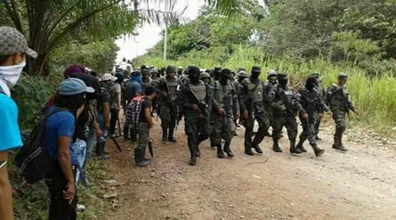 6 defensoras detenidas en violento desalojo a campesinos en el bajo aguan