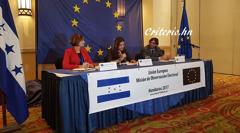 Primer contingente de observadores europeos se desplaza a los departamentos de Honduras (vídeo)