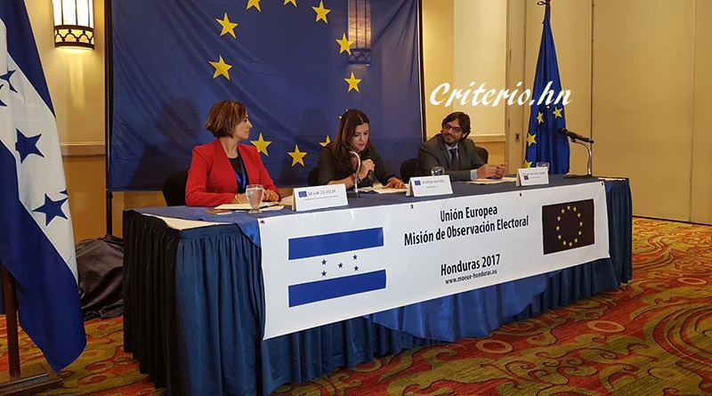 Observadores de la Unión Europea se irán hasta que TSE de resultados