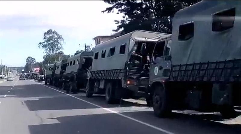 Camiones militares movilizados retornan de repartir personal y material electoral: Secretaría de Defensa