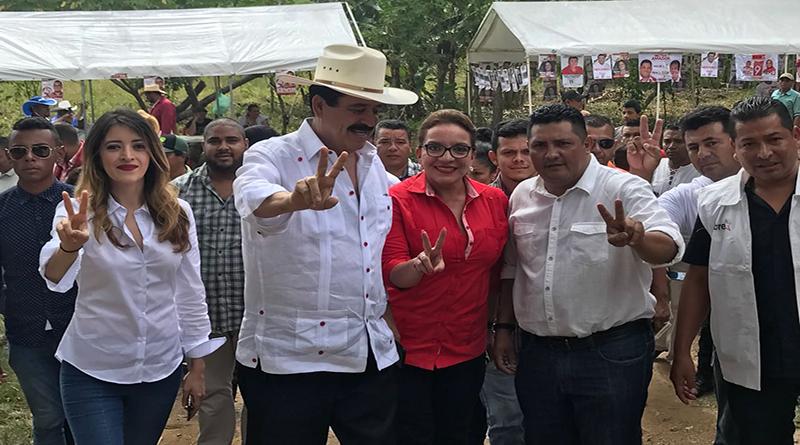 Mel Zelaya y Xiomara Castro votan en Catacamas, Olancho y piden salir a votar masivamente