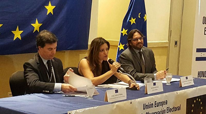 Propaganda política fue mayoritaria para JOH: Misión de la Unión Europea