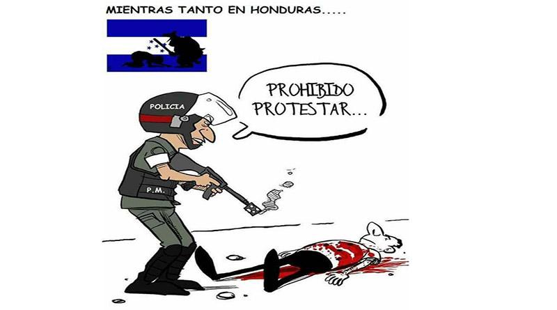 Asesinatos, golpizas y violaciones de derechos humanos son la orden del día en Honduras