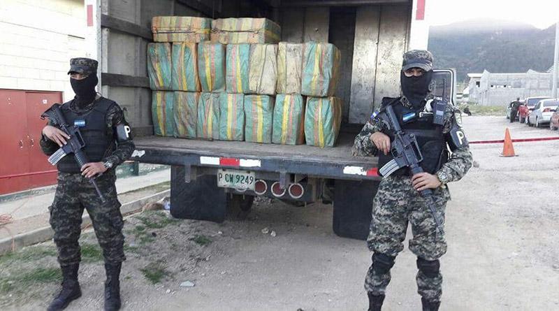 957 kilos de cocaína decomisan en Gualaco,  Olancho