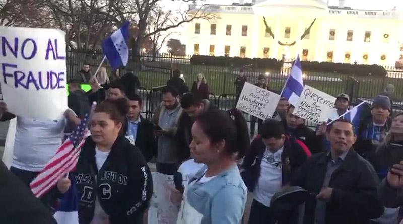 Hondureños y organizaciones aliadas piden en Washington que no se reconozca el represivo régimen de Honduras