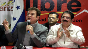 Manuel Zelaya y Salvador Nasralla
