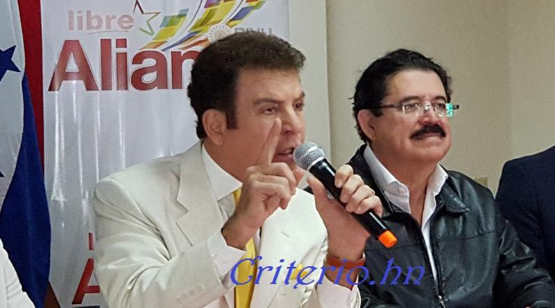 Gobierno de JOH está enviando armas y dinero a gente civil en el sector norte del país: Salvador Nasralla