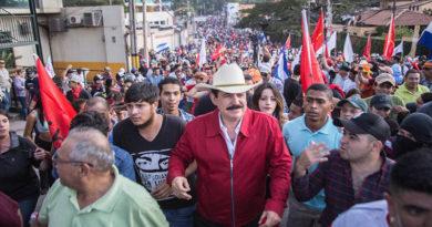 """""""Mel"""" Zelaya asegura que va por el paro nacional y un frente amplio electoral"""