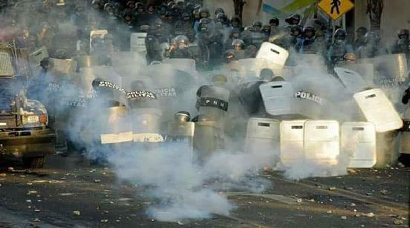 policias y militares de Honduras