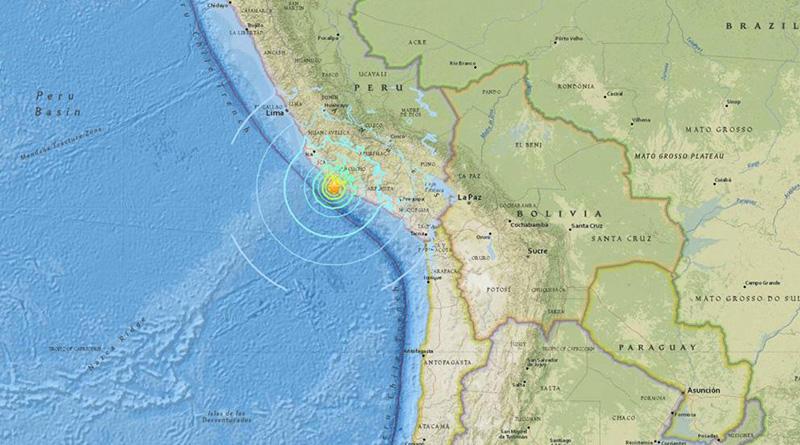Terremoto de 7,1 grados  sacude la costa de Perú y deja al menos un muerto