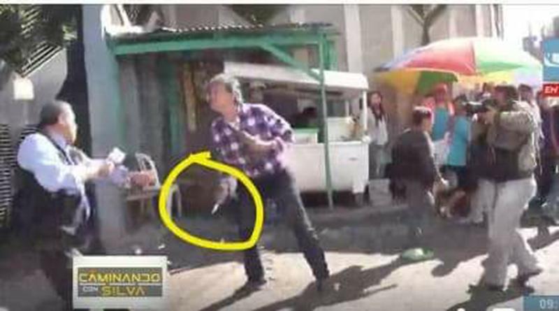 En plena transmisión en vivo atacan con puñal a periodista de Honduras, César Silva (VIDEO)
