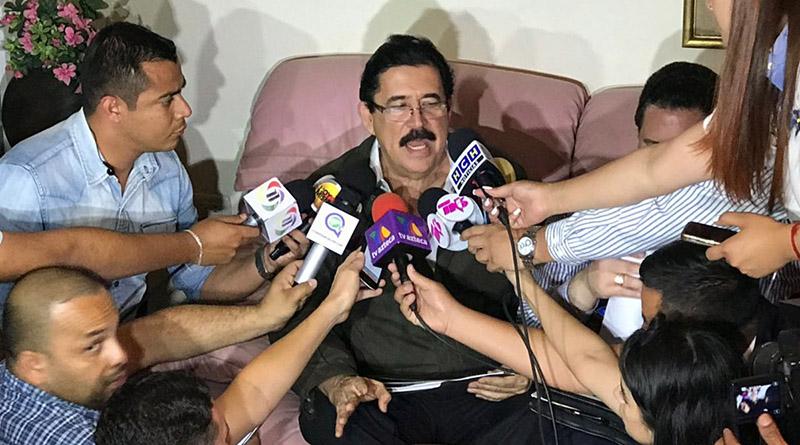 Mel Zelaya y Salvador Nasralla