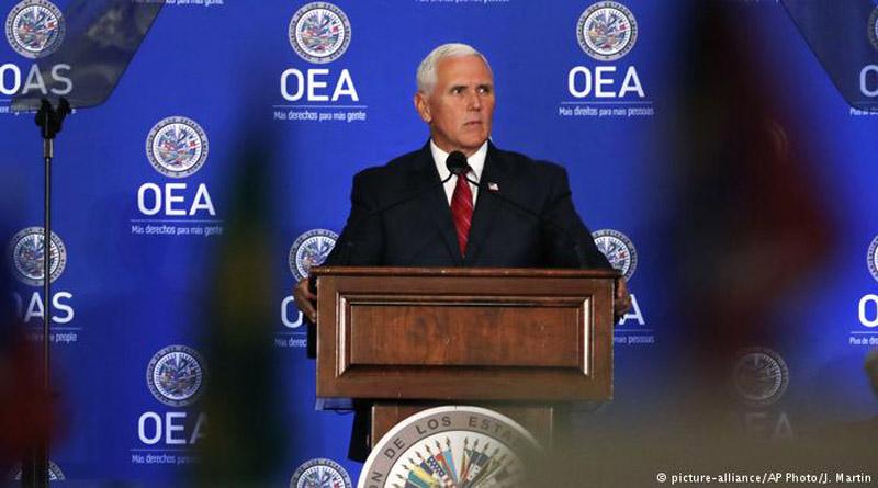 Estados Unidos pide al Consejo Permanente de la OEA que suspenda a Venezuela