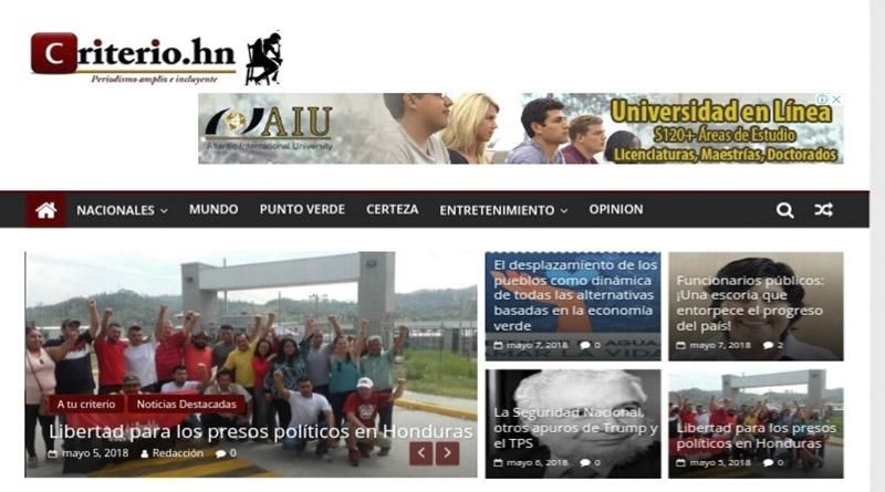 Criterio.hn cumple tres años de cambiar la historia del Periodismo deHonduras