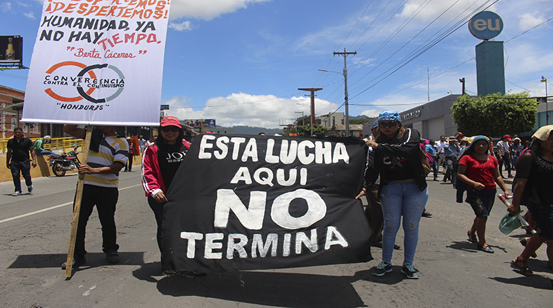 Masiva movilización en Honduras