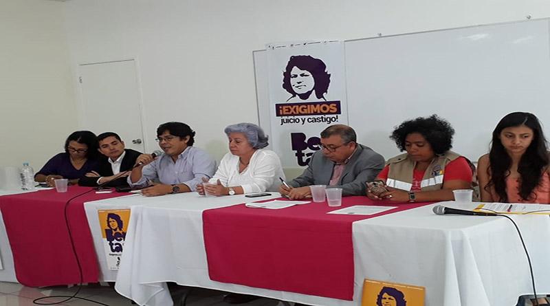 Coalición contra la Impunidad exige se acuse a los autores intelectuales del asesinato de Berta Cáceres