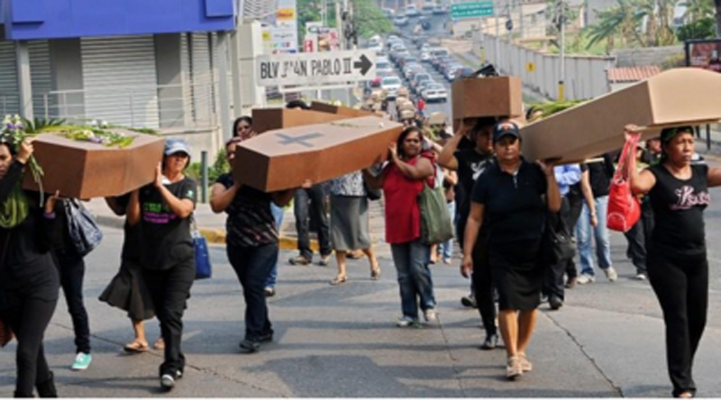 Por enésima vez mujeres de Honduras exigen justicia por femicidios