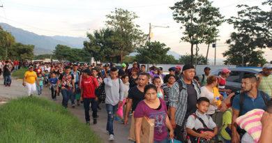 Se forma una nueva caravana de migrantes en San Pedro Sula con rumbo a EE.UU