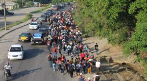 Los centroamericanos huyen