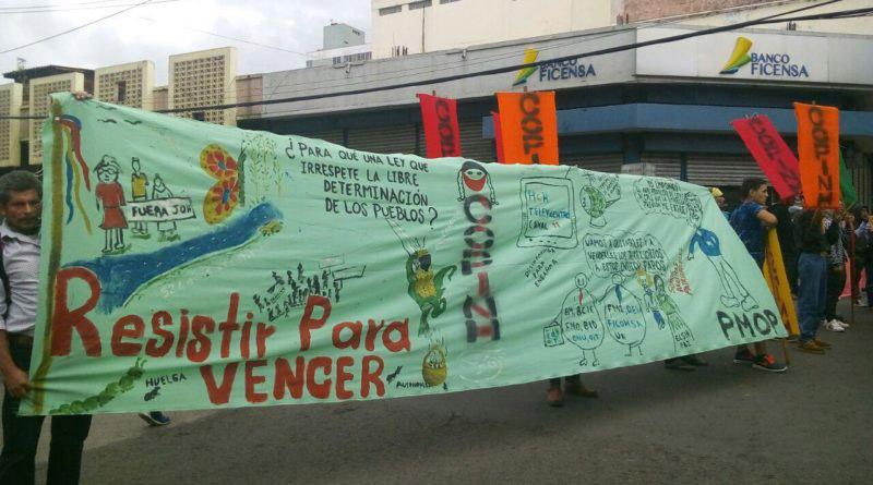 COPINH condena el ataque en contra del movimiento social y las organizaciones comunitarias e indígenas