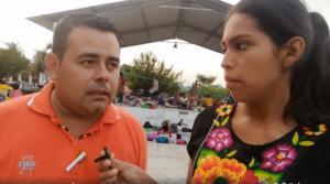 Periodista hondureño va en caravana como un migrante más