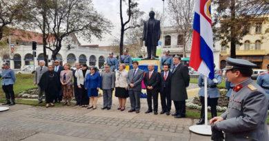 Con groserías rinden tributo a Francisco Morazán en Santiago de Chile