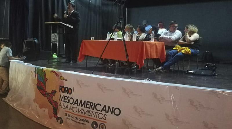 Conozca la declaración final del Foro Mesoamericano Alba Movimientos realizado en Tegucigalpa