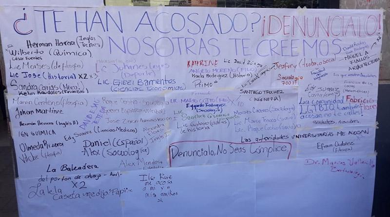 Estudiantes de la UNAH denuncian maestros acosadores