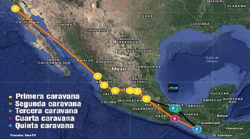 Cronología de las caravanas de migrantes: un mes de su partida