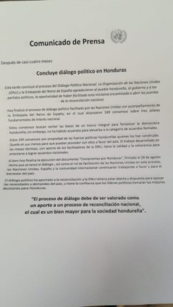 diálogo en Honduras