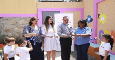 Fundación Terra y Aeropuertos de Honduras dotan de área infantil a centro escolar